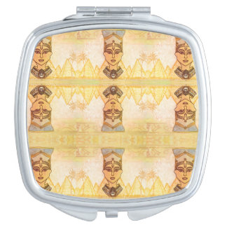 Egyptian queen Cleopatra compact mirror
