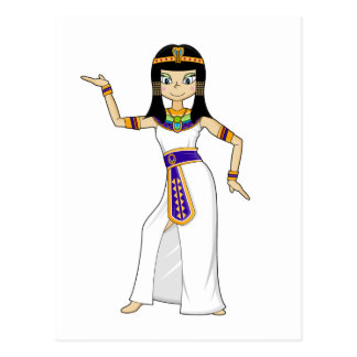 Egyptian Queen Cleopatra Dancing Postcard
