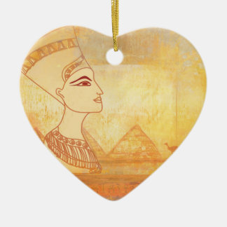 Egyptian queen Cleopatra Decoration Ceramic Heart Decoration