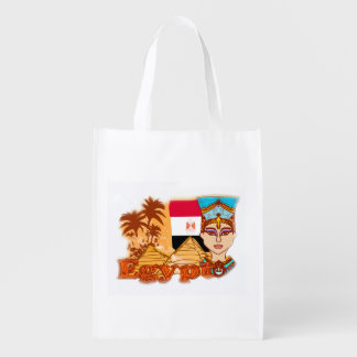 Egyptian queen cleopatra Reusable Grocery Bag