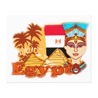Egyptian queen cleopatra Stretched Canvas Print