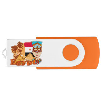 Egyptian queen cleopatra USB Flash Drive