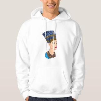 egyptian queen nefertiti mens hooded sweatshirt