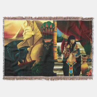 Egyptian Queen Throw Blanket
