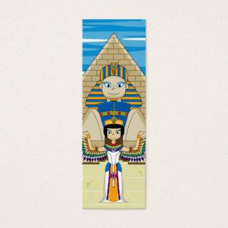 Egyptian Queens Nefertiti & Cleopatra Bookmark Mini Business Card