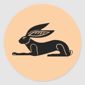 Egyptian Rabbit Classic Round Sticker
