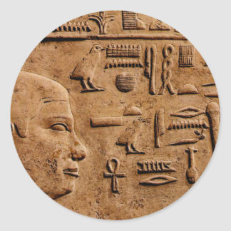 EGYPTIAN Relief Art Gift Items Round Stickers