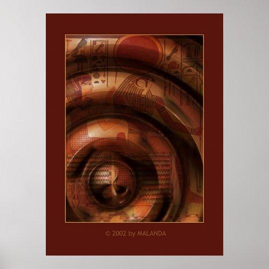 Egyptian Rings Poster