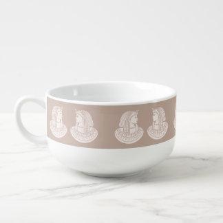 Egyptian Rose Twin Pharaoh Pink Stone Style Egypt Soup Mug
