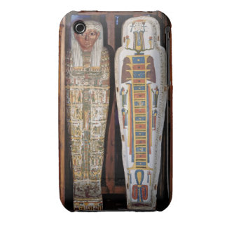 Egyptian sarcophagus covered with hieroglyphics (p iPhone 3 case