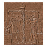 Egyptian Scales of Life Hieroglyph Poster