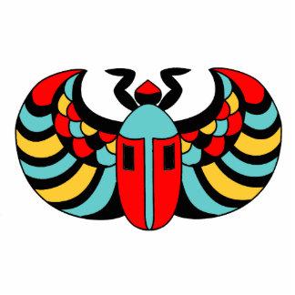 Egyptian Scarab Beetle Photo Sculpture Keychain