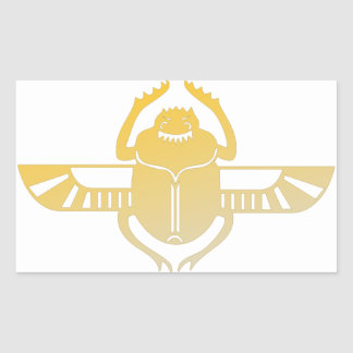 Egyptian scarab beetle. rectangular sticker