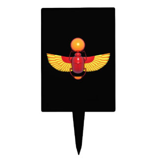 Egyptian Scarab Cake Toppers