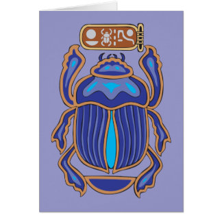 Egyptian Scarab Dung Dung Beetle Card