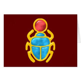 Egyptian scarab egypt scarab card