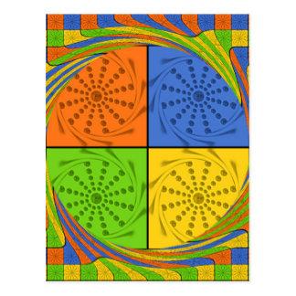 Egyptian Seamless set fabric pattern Postcard