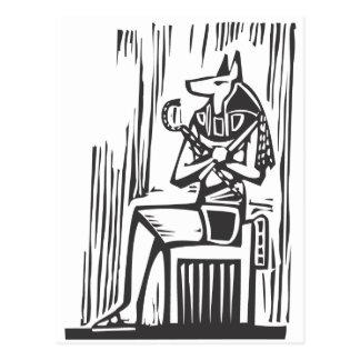 Egyptian Sitting Anubis Post Card