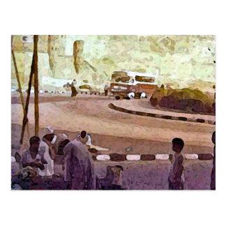 Egyptian Street Scene Postcard