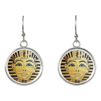 """Egyptian Style"" Sterling Silver Plated Earrings"