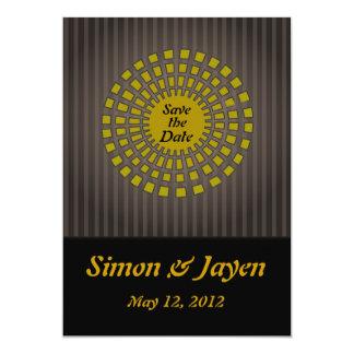 "Egyptian Sunburst Save The Date Card or Invitation 5"" X 7"" Invitation Card"