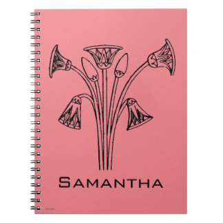 Egyptian Symbol: Lotus Notebook