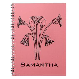 Egyptian Symbol: Lotus Spiral Notebook
