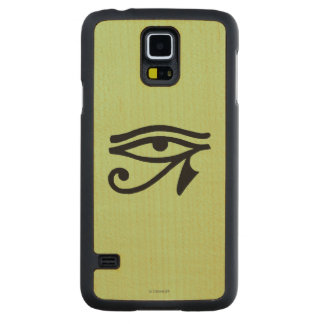 Egyptian Symbol: Wedjat Carved Maple Galaxy S5 Case