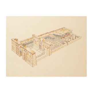 Egyptian Temple Wood Wall Decor