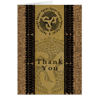 Egyptian Thank You Card