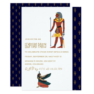 Egyptian Themed Party Invitation
