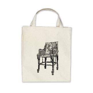 Egyptian Throne chair Canvas Bag
