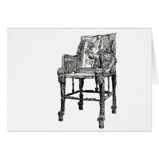 Egyptian Throne chair Greeting Card