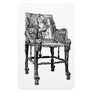 Egyptian Throne chair Rectangular Magnets