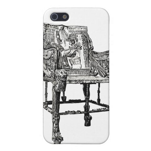Egyptian Throne chair Cases For iPhone 5