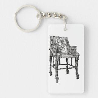 Egyptian Throne chair Single-Sided Rectangular Acrylic Keychain