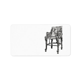 Egyptian Throne chair Address Label