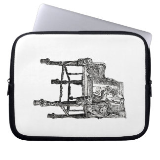 Egyptian Throne chair Laptop Sleeves