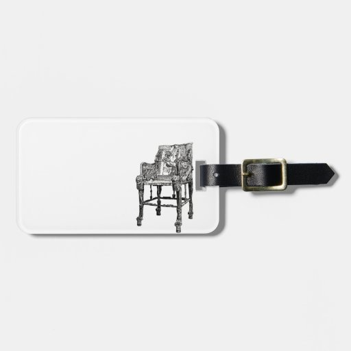 Egyptian Throne chair Tags For Bags