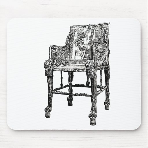 Egyptian Throne chair Mouse Pad