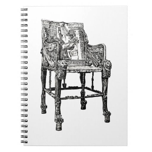 Egyptian Throne chair Notebooks