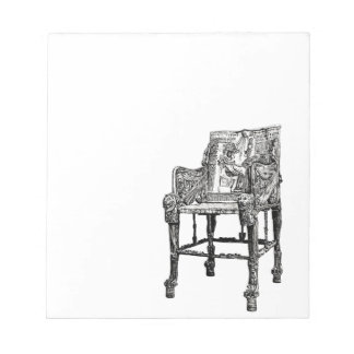 Egyptian Throne chair Scratch Pads