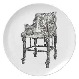 Egyptian Throne chair Party Plates