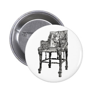 Egyptian Throne chair Pinback Buttons
