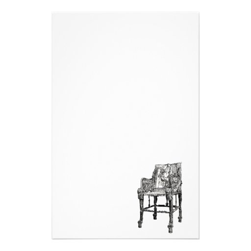 Egyptian Throne chair Customized Stationery