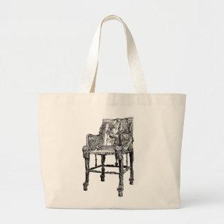 Egyptian Throne chair Canvas Bags
