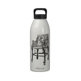 Egyptian Throne chair Reusable Water Bottles