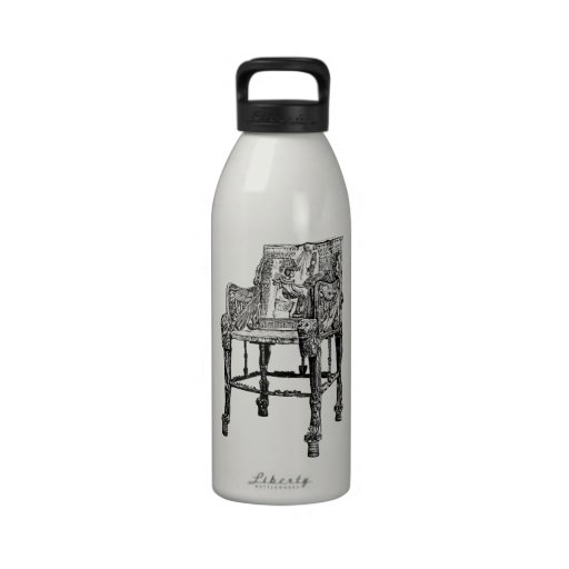 Egyptian Throne chair Reusable Water Bottles