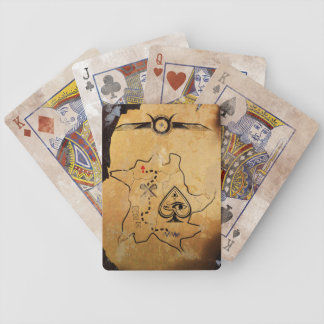 Egyptian Treasure Map Playing Cards