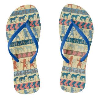 Egyptian Unicorn Pattern Flip Flops